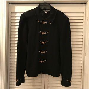 St John Collection Santana Knit Black Sweater Sz 6